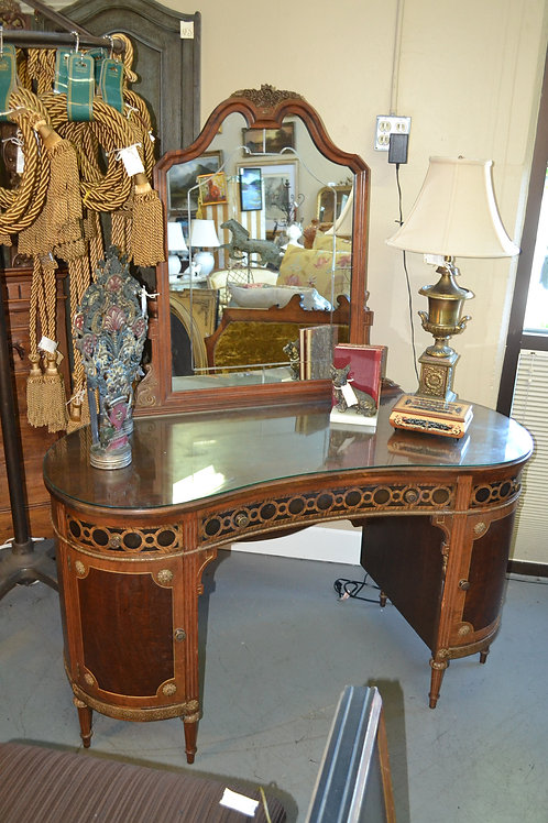 SWEET FRENCH MIRRORED CURVED INLAY VANITY