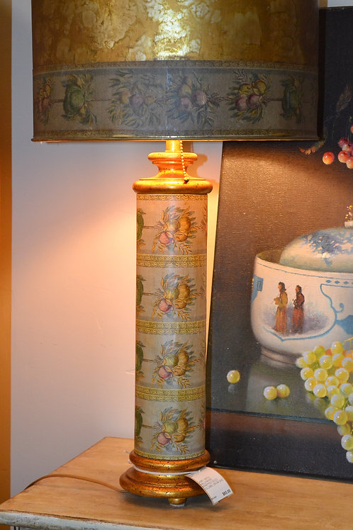 Lamp- Vintage papered lamp