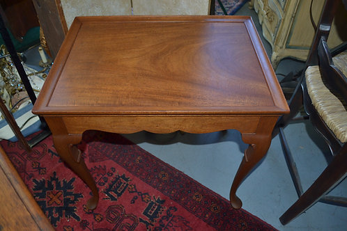 Rectangular tray top edge side table