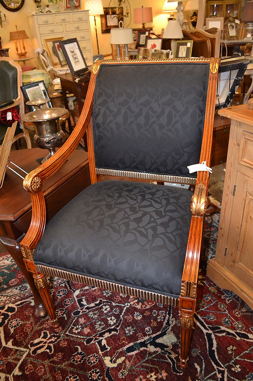 LARGE FRAME NEOCLASSICAL SWAY ARM CHAIR