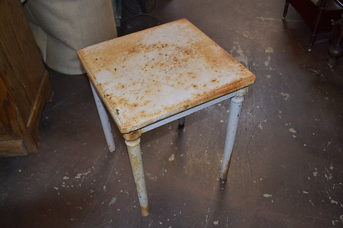 Antique metal side table
