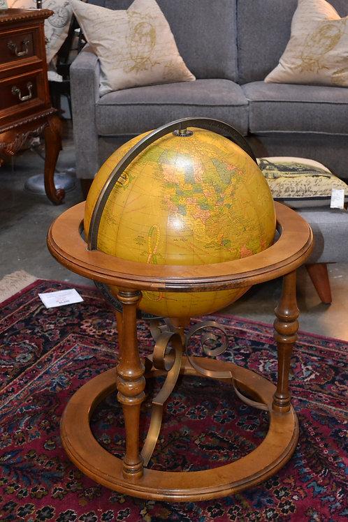 Fantastic world globe inside custom wood stand