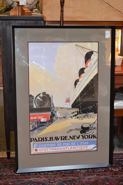 Framed 1940s vintage French advert poster