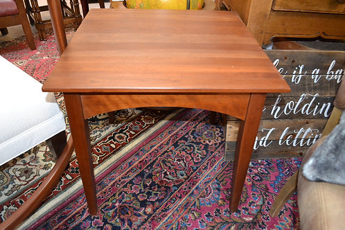 EA modern solid cherry end table