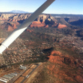 sedona, az, mountain flying, cessna, learn to fly