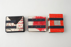 3 small tacketed binding