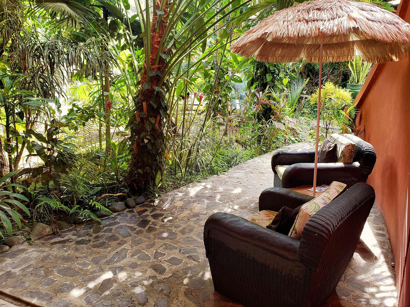 Blick auf den Garten, Hotel Las Cascadas Die Wasserfälle, Condotel Las Cascadas, Manuel Antonio, Quepos, Costa Rica