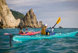 snorkelling in manuel antonio, kayak