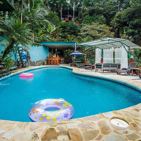 Las Cascadas Die Wasserfälle, Quepos Boutique Hotel, Manuel Antonio Hotel, Manuel Antonio, Quepos, Costa Rica.
