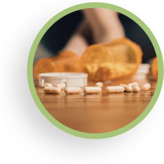 Addiction treatment circle image