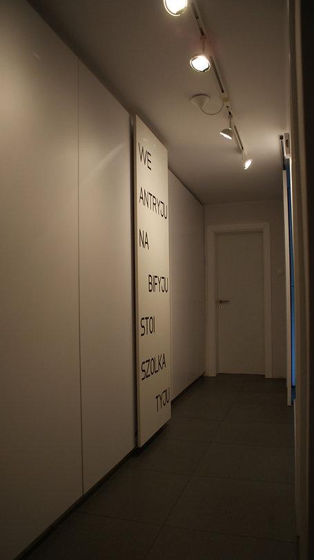 Projekt wnętrza w Bieruniu -korytarz