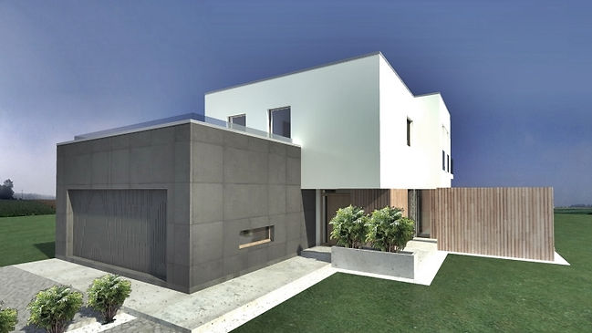 Dom z płaskim dachem w Tychach