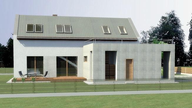 Elewacja domu jednorodzinnego w Tychach