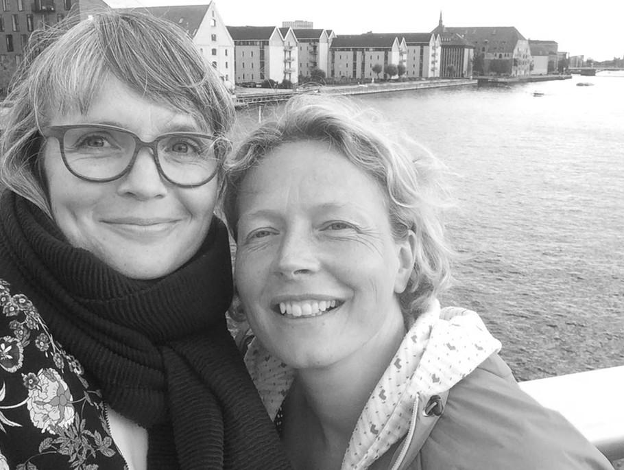 Stine Rusbjerg Guldager og Signe Foesom i Venskabsprojektet