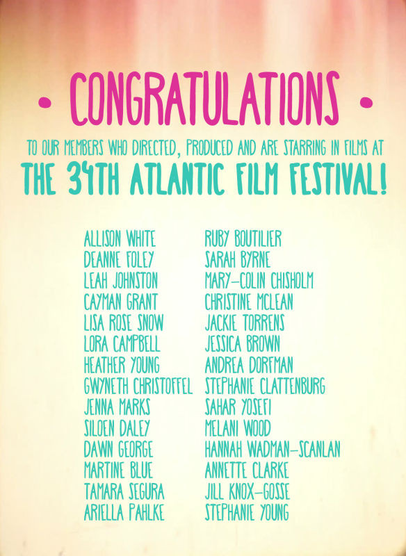 Congrats to all WIFT AT Members screening at AFF!