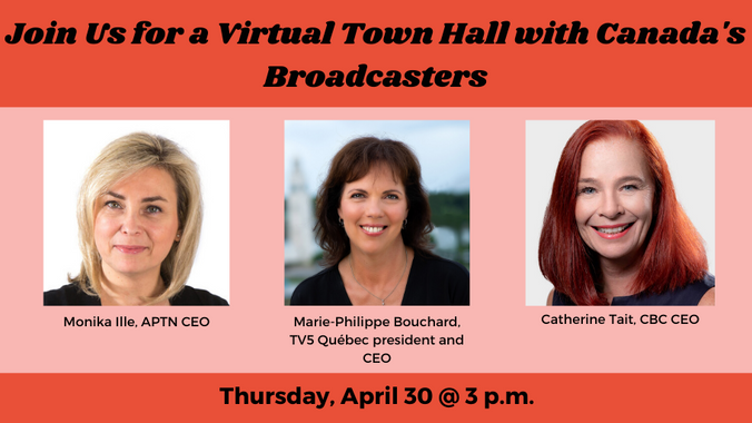 Join WIFT Canada for a Virtual Town Hall with Canada's Broadcasters