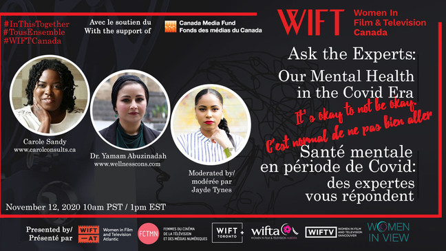 Join WIFT Canada for Ask the Experts: Our Mental Health in the COVID-19 Era