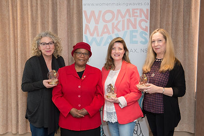 Ann Bernier, Christine McLean, Donna Davies with Dr. Wanda Thomas Bernard.  Photo Credit: Michelle Doucette