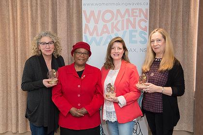 Ann Bernier, Christine McLean, Donna Davies with Dr. Wanda Thomas Bernard.  Photo Credit: Michelle Doucette