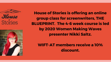 Join Nikki Saltz for an Online Screenwriting Course