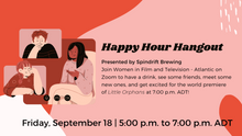 Join us forSpindrift Brewing Happy Hour Hangout: FIN Gala Little Orphans