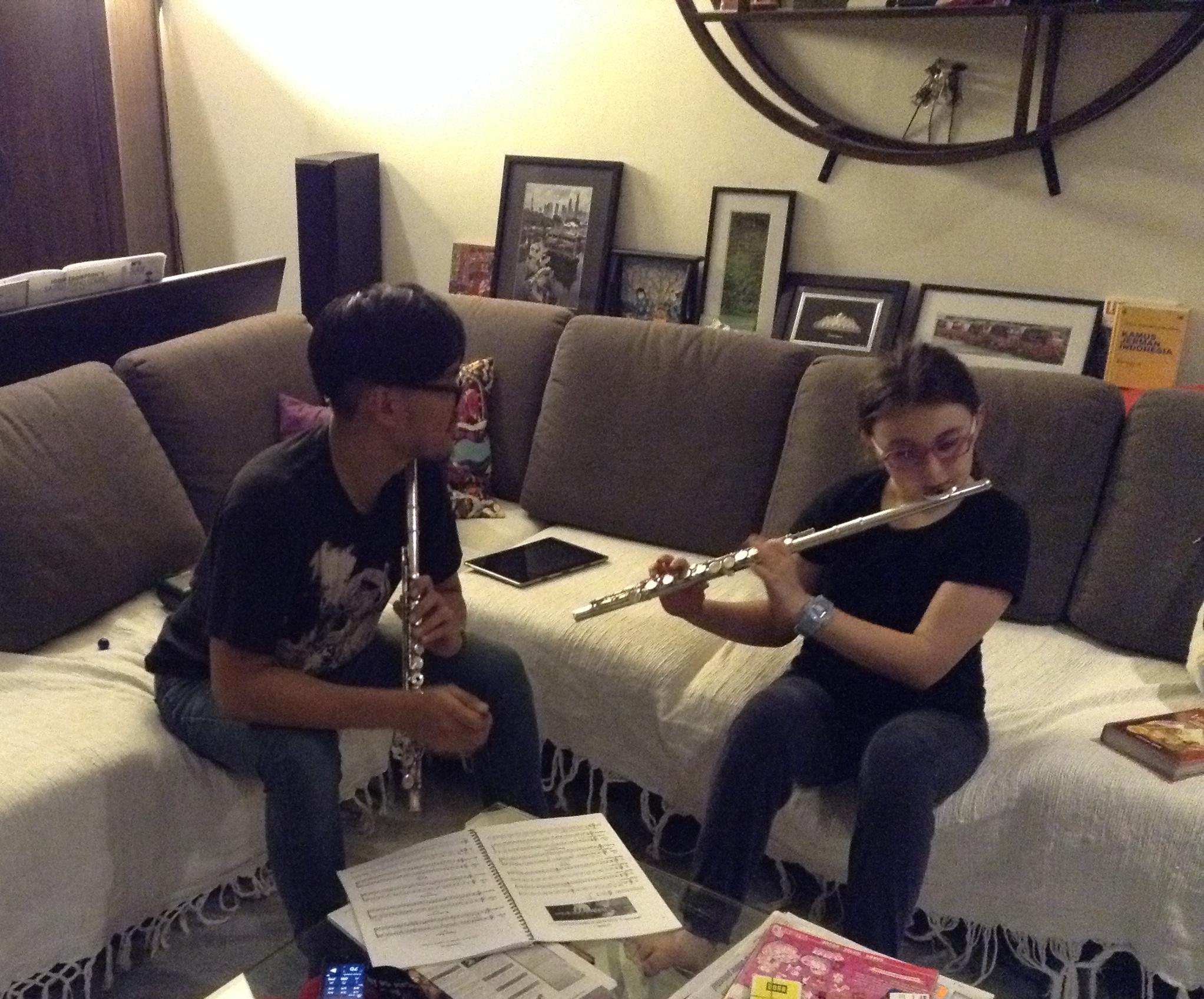 Nico - flute lesson
