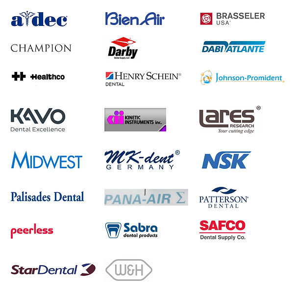 Vandent Dental repairs Kavo, Lares, Midwest, Star Dental, NSK, Johnson-Promident and more!