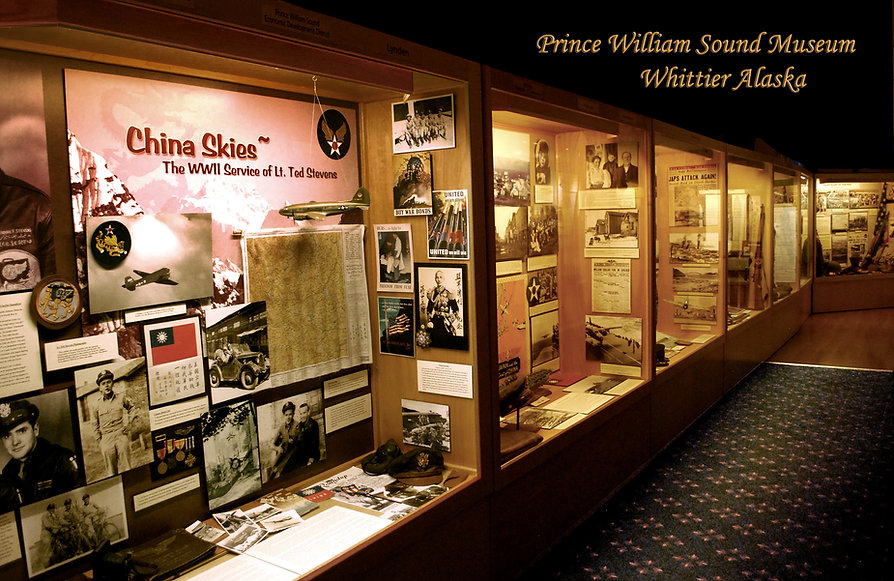 Exhibits at the Prince William Sound Museum in Whittier Alaska