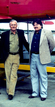Ted Spencer with Neil Armstrong in 1994