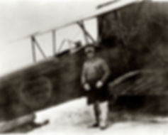 Bush pilot Gillam with his plane in Alaska