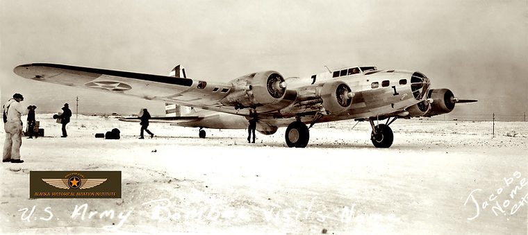 B-17 in Alaska photo on display at the Prince William Museum in Whittier Alaska
