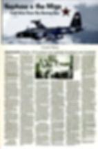 News article about aerial combat history over the Bering Sea during the Cold War
