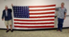 City of Whittier Alaska 48 star flag for World War II memorial