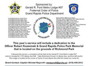 Grand Rapids Police Park Memorial