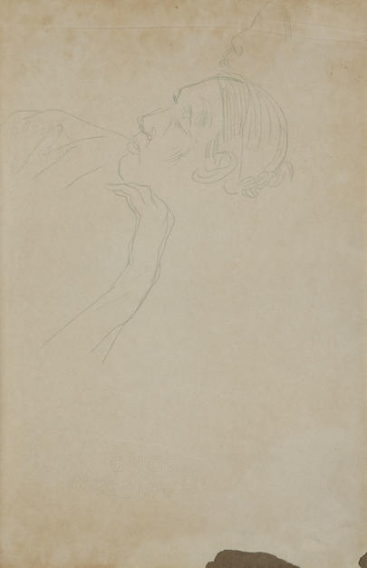 Thinking Woman  1937 pencil on paper
