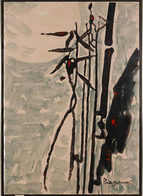 Oriental Rhythm  133x92 Oil on Canvas 1970 New York