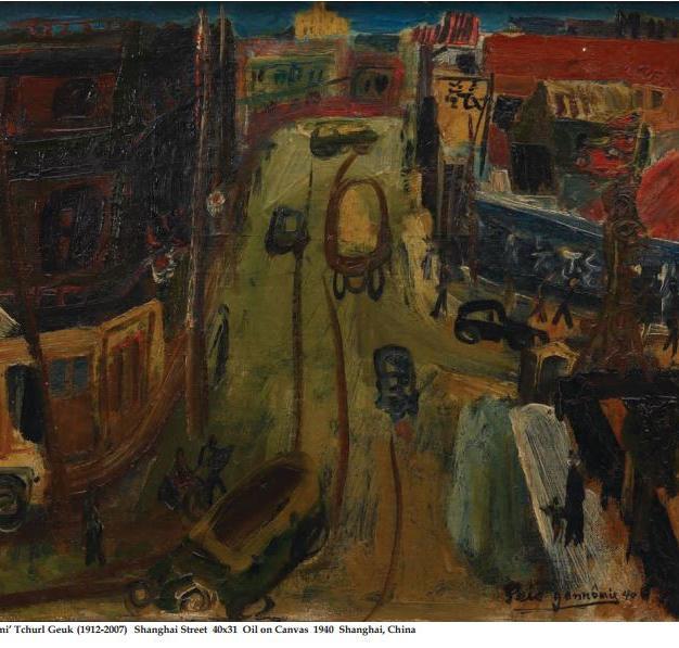 Shanghai Street 40x31 Oil on Canvas 1940