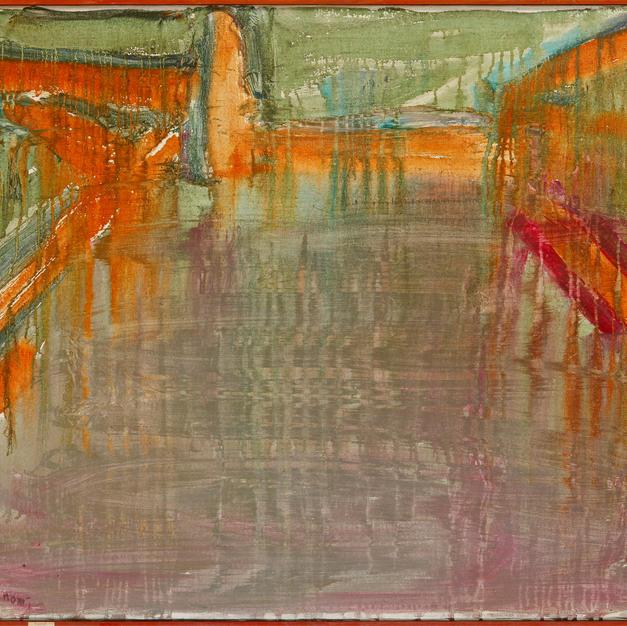 Paysage de Seine 116x92  Acryl on Canvas 1981