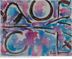 San Sui et La Lune B 56x48 Oil on Canvas