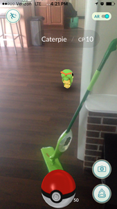 Im trying to clean CATERPIE!!!!!