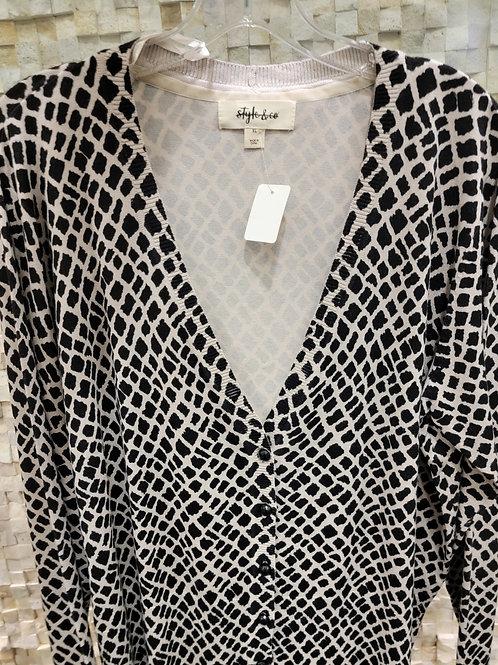 Style & Co. Animal Print Sweater-Cardigan
