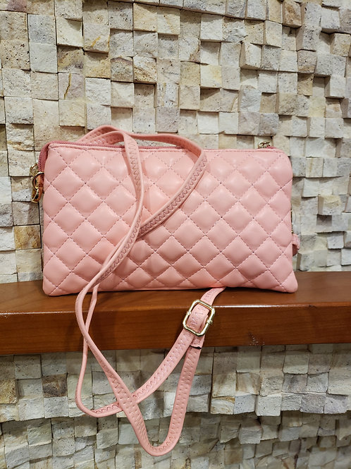 Quilted, Cross-Body Clutch