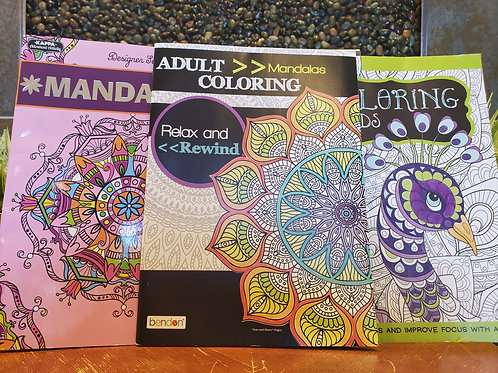 Assorted Adult Coloring Books (per unit)