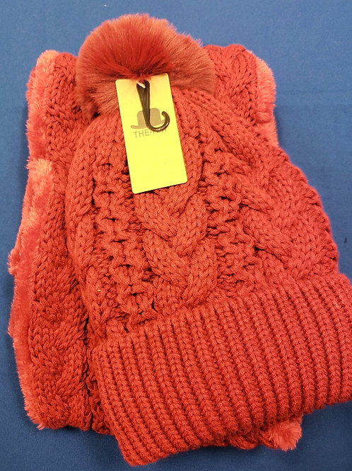 Women's Hat & Scarf Set