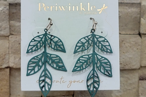 Periwinkle Leaf Earring