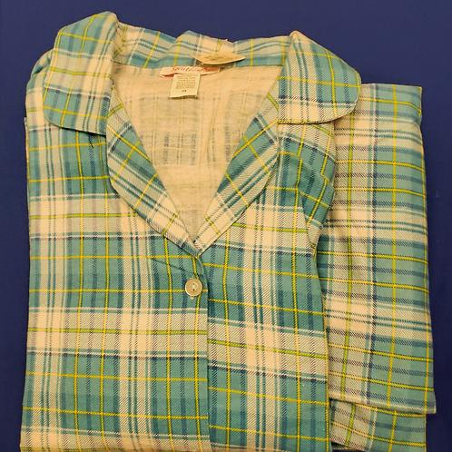 Flannel Pajama Set (Green)