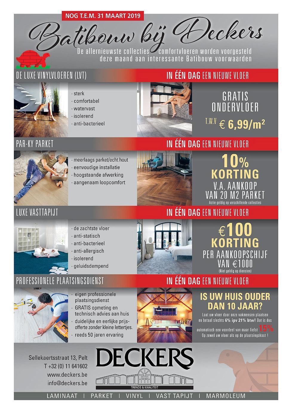 Acties Batirbouw Deckers voerbekleding