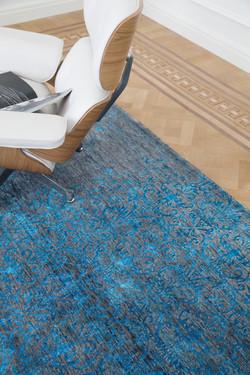 Aqua blauw tapijt