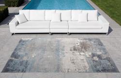 Grijsblauw tapijt