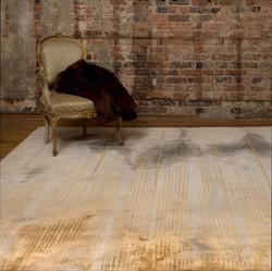Exclusief tapijt met goudtinten